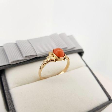 Złoty pierścionek p.585 roz. 19