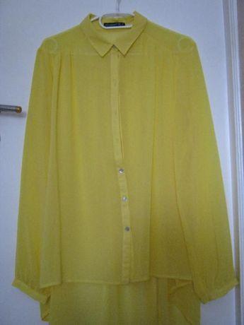 Żółta zwiewna koszula
