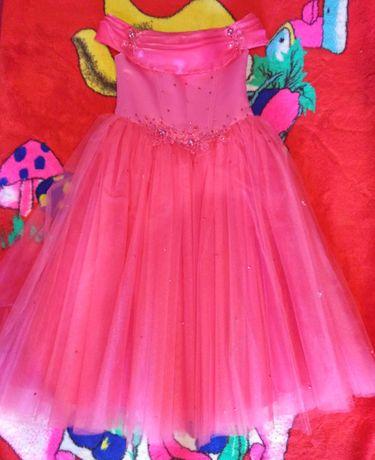 Святкова сукня для дівчинки 6-8 років + подарунок. Платье для девочки.