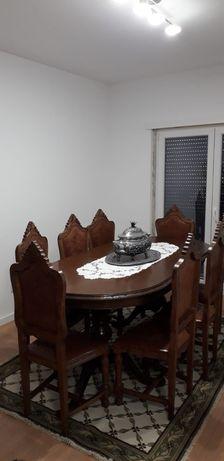 Mesa sala c/ 8 cadeiras