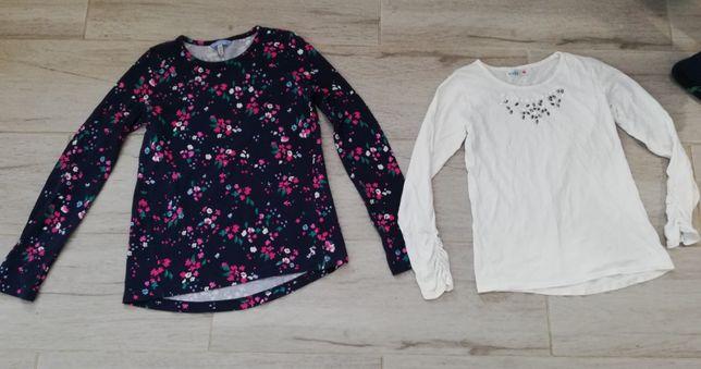 dwie bluzki dla dziewczynek w wieku 9 - 12 lat