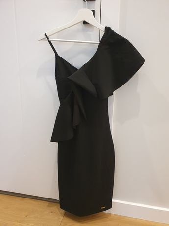 Sukienka, czarna na jedno ramię Mohito XS