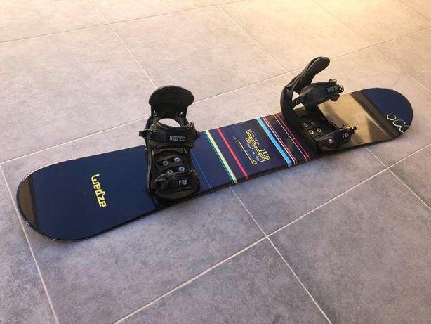 Conjunto Snowboad - Prancha,botas,capacete,protecoes,saco