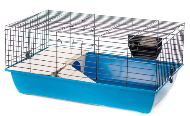 Клетка для кролика и морская свинка с домиком и сенником