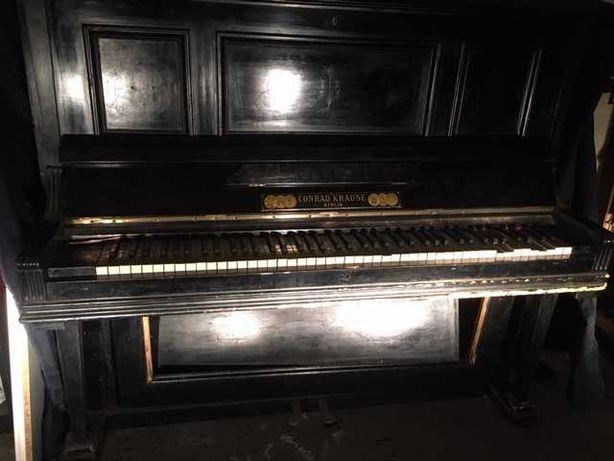 Piano Vertical Clássico Conrad Krause Berlin