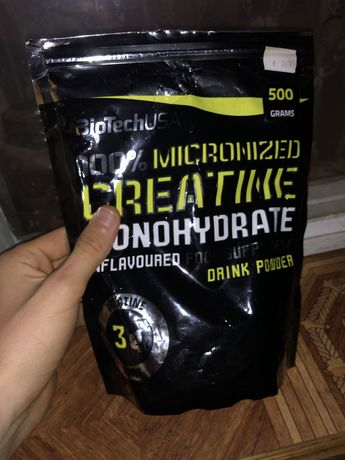 Креатин BioTech 100% Creatine Monohydrate 500 g