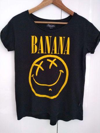 T-shirt koszulka Banana Nirvana bluzka Cropp chillin
