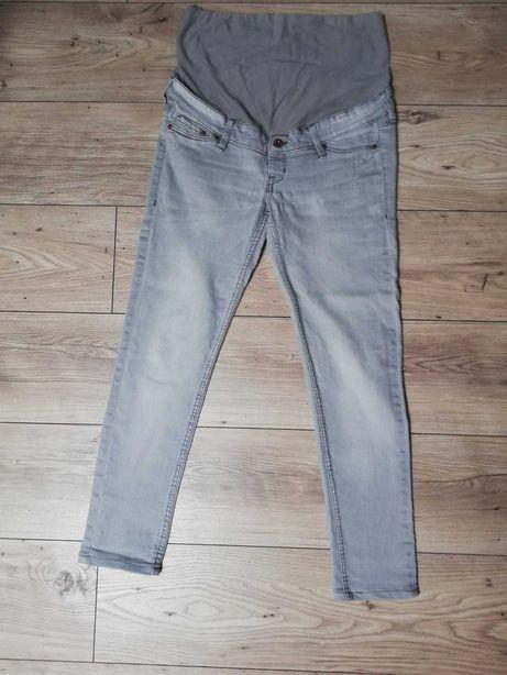 Spodnie jeansy ciążowe szare 38 hm
