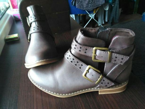 Damskie dziewczece buty bootki botki rozmiar 36. Nowe śliczne