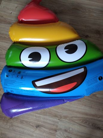 Materac dmuchany do pływania Emoji tęczowe Nowe