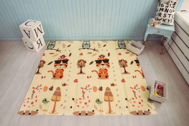 Детский складной двусторонний термо коврик. Развивающий 150х180