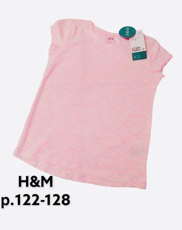 Брендовая футболка H&M р.122-128