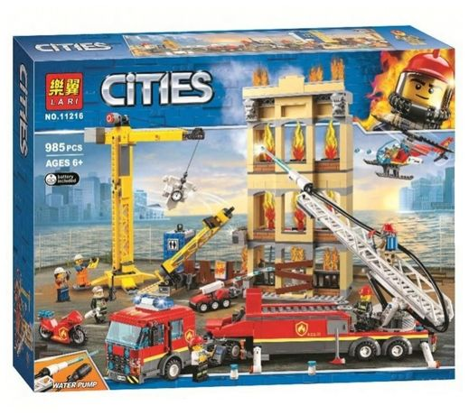 Конструктор BELA 11216 CITIES Центральная пожарная станция (ЛЕГО LEGO)