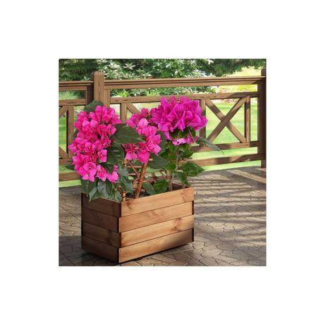 Donica ogrodowa 60 x 40 cm drewniana