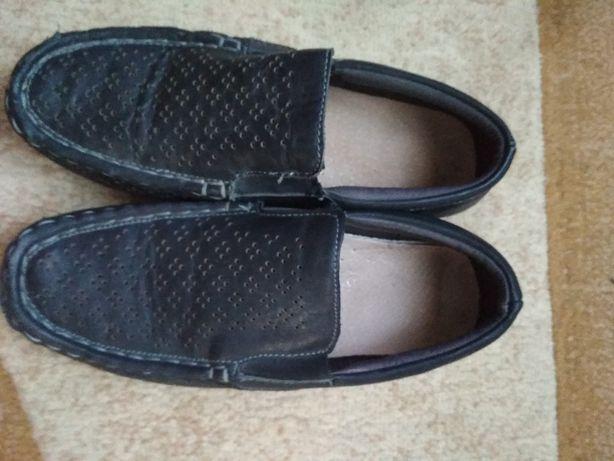 Туфлі літні, дитячі, хлопчачі, кожані 34 розмір