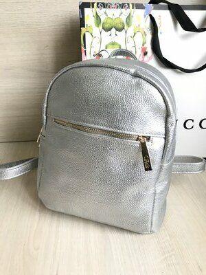 Гламурный блестящий рюкзак Серебро