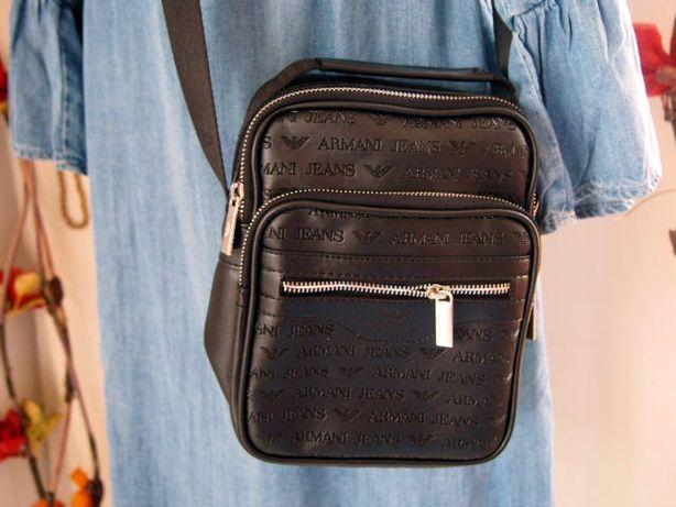 Listonoszka Armani Jeans czarna torebka na pasku hit