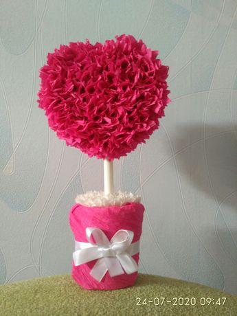 Сердце, топиарий сердце, топиарий, дерево счастья, валентинки