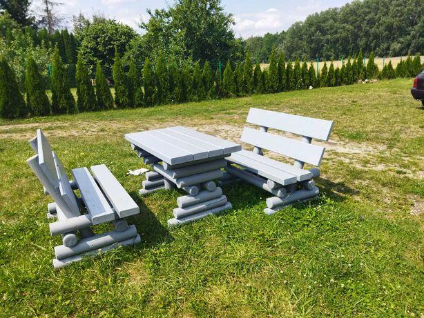 Zestaw ogrodowy stół+ 2 ławki