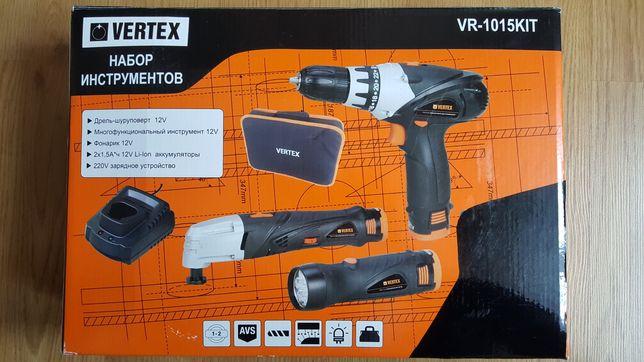 Набор инструментов VERTEX VR 1015 KIT (дриль-шуруповерт)