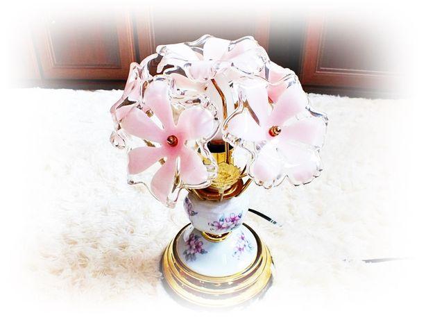 Kolekcjonerska śliczna lampka nocna bukiet kwiatów CUDO!!
