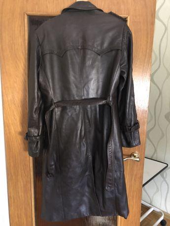 Skórzany płaszcz męski