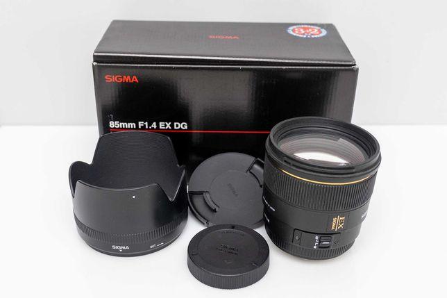 Obiektyw Sigma AF 85mm f1.4 EX DG HSM Canon