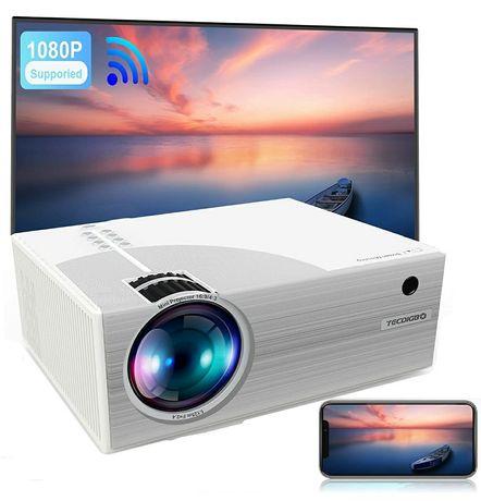 Vídeo projetor led 6500 lumens/WiFi incorporado/1080P