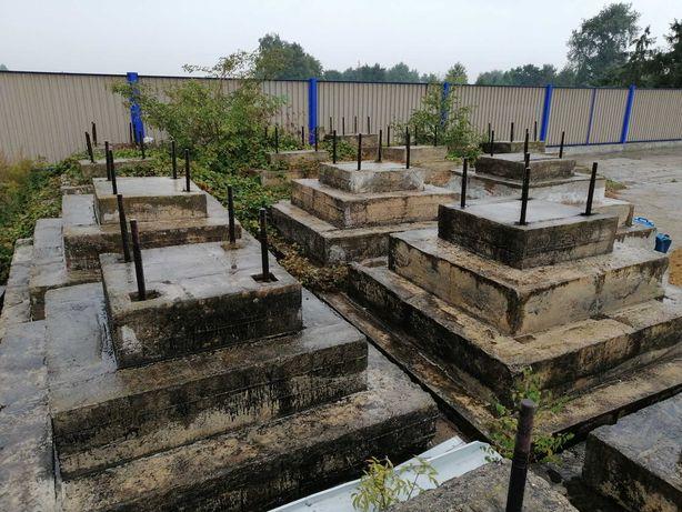 Podstawa betonowa stopa filar zbrojenie ODDAM