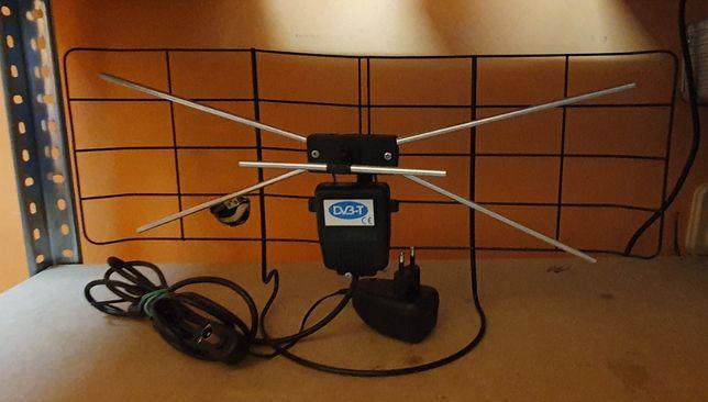 Antena pokojowa wewnętrzna siatka dvb-t