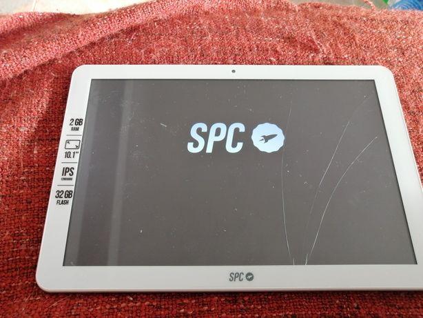 Vendo tablet com ecrã partido