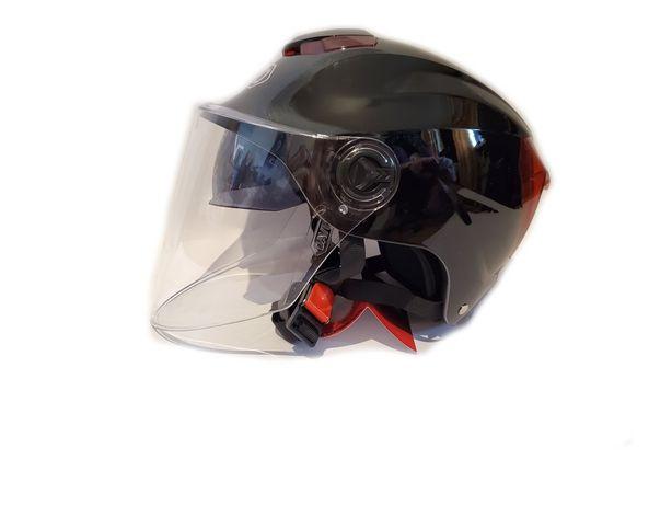 Мотошлем, шлем с очками, полушлем,шлем каска черная