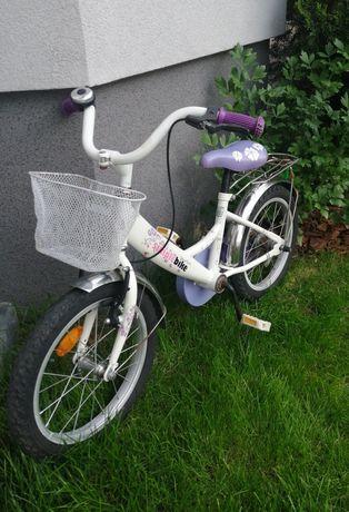 Biały rower dla dziewczynki koła 16