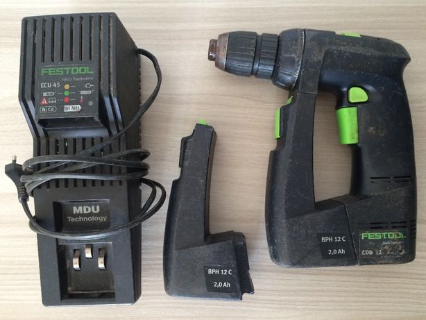 Шуруповерт Festool CDD12 с двумя батареями и зарядным устройством ECU