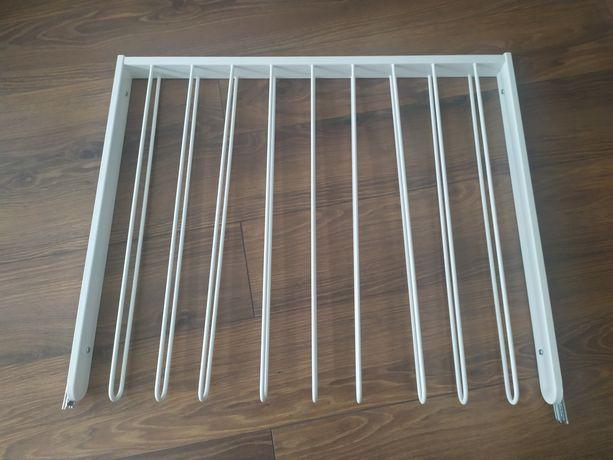 KOMPLEMENT do szafy PAX Ikea Wysuwan wieszak na spodnie, biały75x58 cm