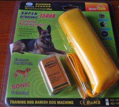 Ультразвуковой отпугиватель собак AD 100 с фонариком ручной