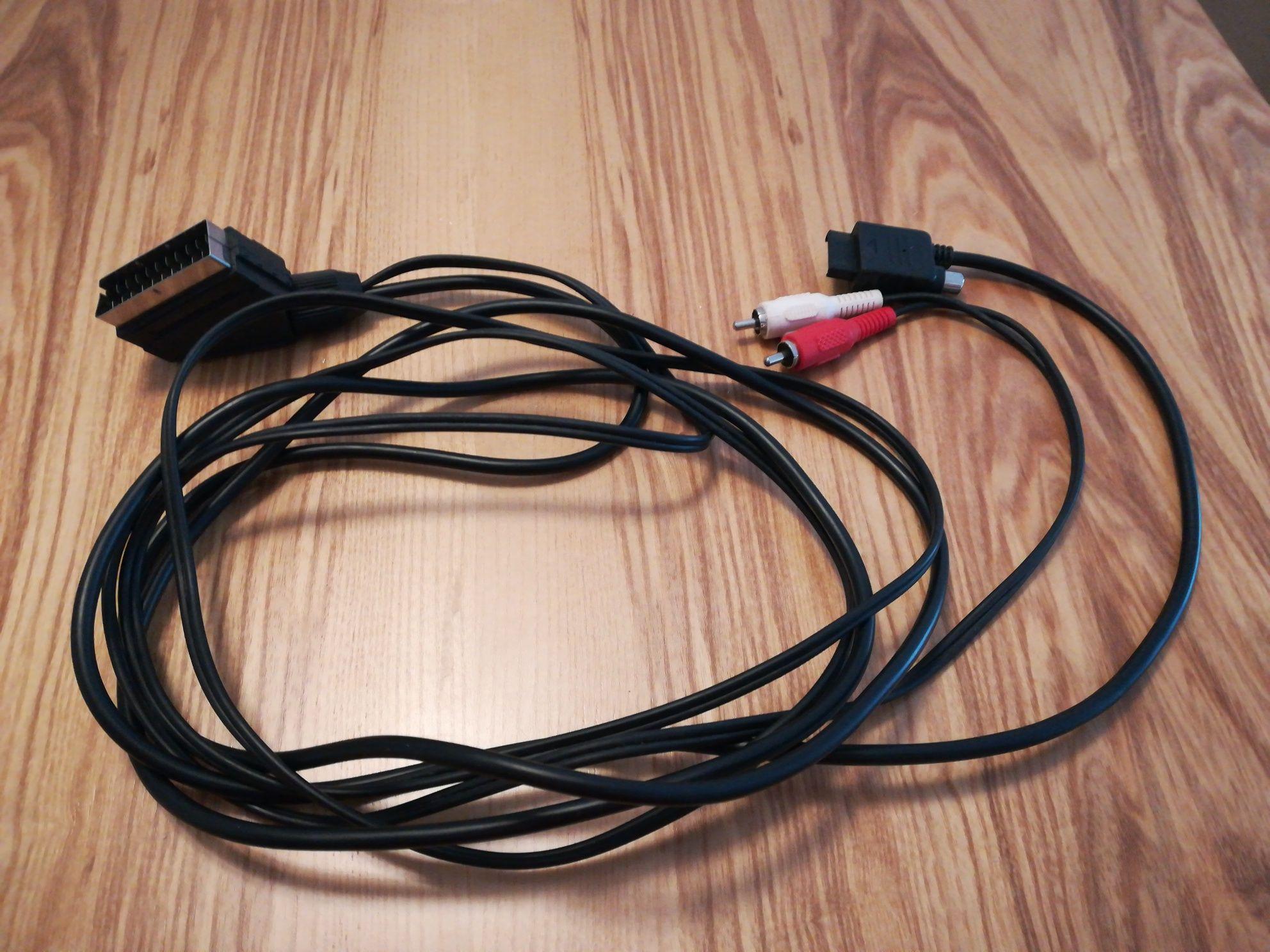 Cabo RGB para Playstation1/2 com saídas de audio