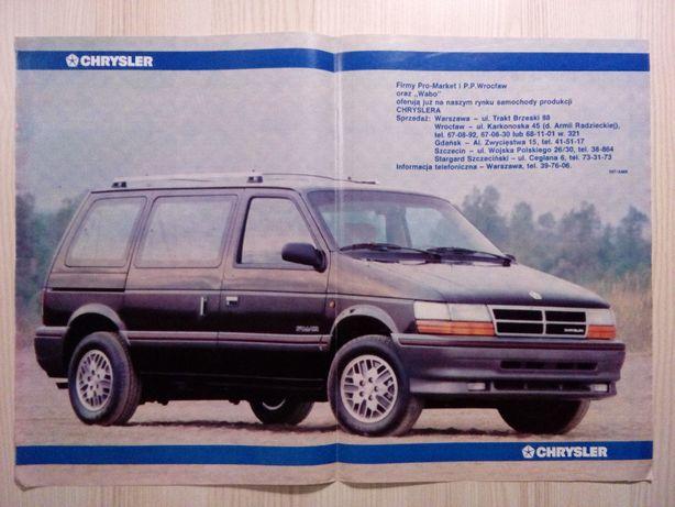 Plakat Poster Chrysler Voyager 34cm x 48cm Samochody VAN Auto Cars USA