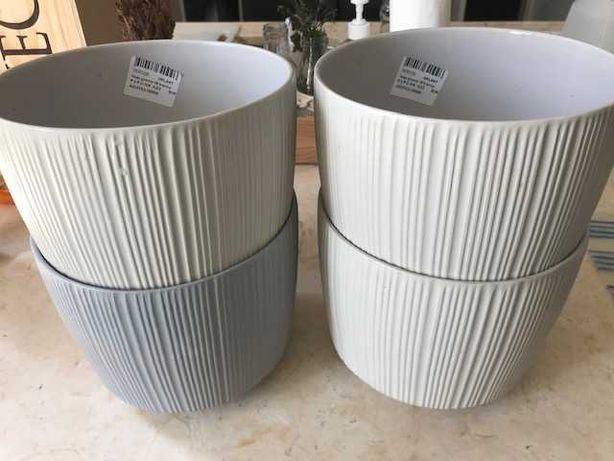 Vaso groovy 19 branco ou cinzento Ceramica VIPLANT