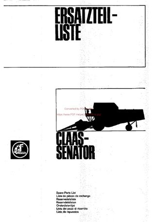 Katalog części kombajn claas senator