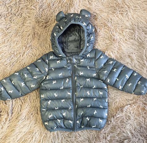Куртка весна-осень р 90, 1-1,5 .Теплая красивая куртка