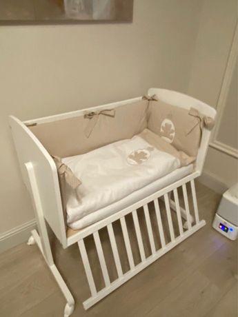 Детская кроватка + матрас + текстиль