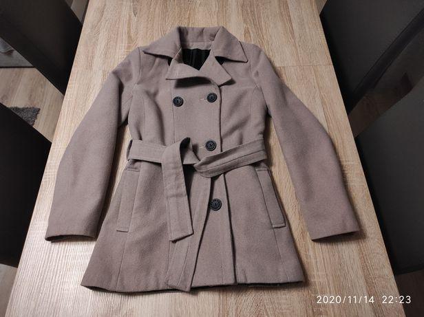 Płaszcz flauszowy, rozmiar 36