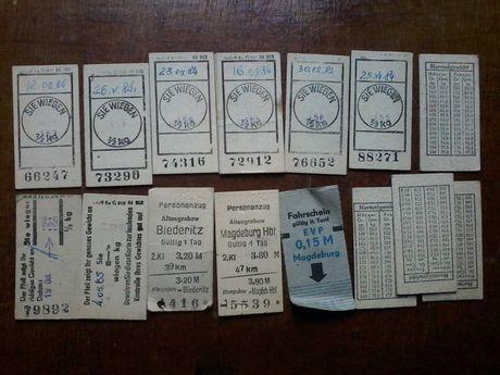 Проездные билеты ГДР
