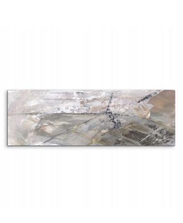 OKAZJA! Nowy obraz abstrakcja 50 x 150 cm braz szary wydruk na płotnie
