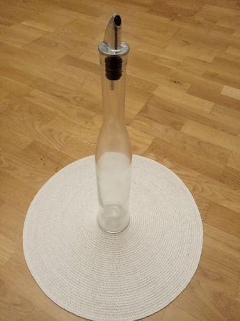 Butelka do oliwy wąska 40 cm Decoupage flakon na oliwę z korkiem