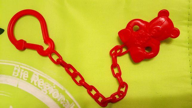 Цепочка держатель для пустышки соски с игрушкой Мишка Wee Bab прищепка
