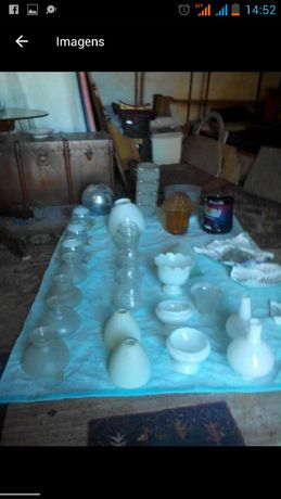 Lote vidros para candeeiros teto/mesa