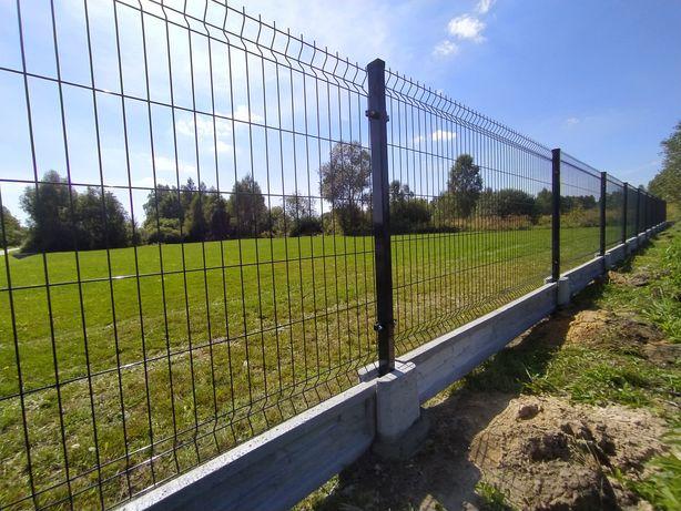 Panele ogrodzeniowe z podmurówką + montaż. Ogrodzenie, siatka.