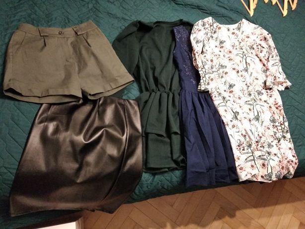 Zestaw 3 sukienki, spódniczka i spodenki
